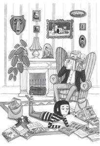 Bethany and Ebenezer read comics